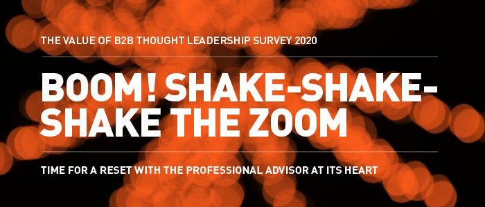 Value of B2B Thought Leadership Survey 2020