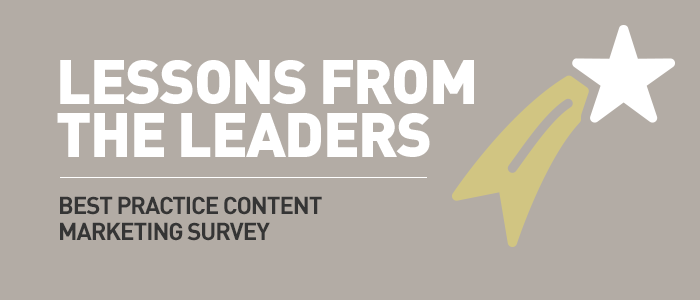 Find out what leaders do differently in the best practice content marketing survey